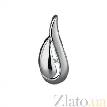Серебряный кулон с бриллиантом Кортни 79300599