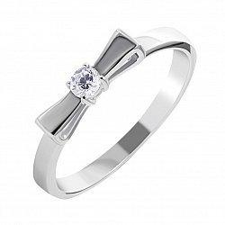 Серебряное кольцо с фианитом 000134171
