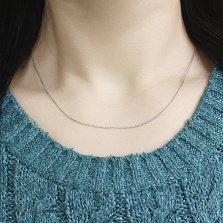 Золотая цепочка Невада в белом цвете плетения косичка, 1мм