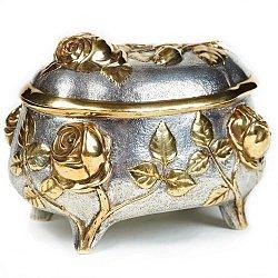 Серебряная шкатулка с позолотой 000004508