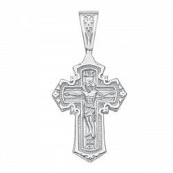 Серебряный православный крестик 000135159