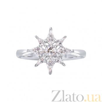 Золотое кольцо с бриллиантами Линда 1К698-0009