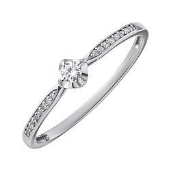 Кольцо из белого золота с бриллиантами 000139315