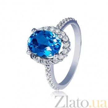 Золотое кольцо с топазом и бриллиантами Амбер EDM--КД7531/1ТОПLond