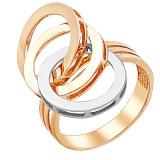 Золотое кольцо Олимпия в комбинированном цвете