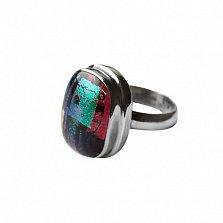 Серебряное кольцо с имитацией опала Фреска