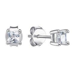 Серебряные пуссеты с фианитами 000106913