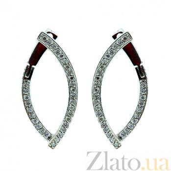Золотые серьги с бриллиантами Андреа ZMX--ED-6852w_K