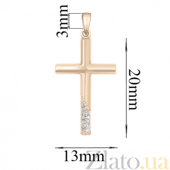 Золотой крестик Ариэль с бриллиантами  000031654