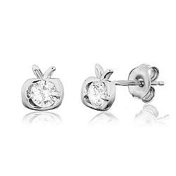 Сережки из серебра с цирконием Спелые фрукты
