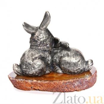 Серебряная статуэтка Зайчата 1479