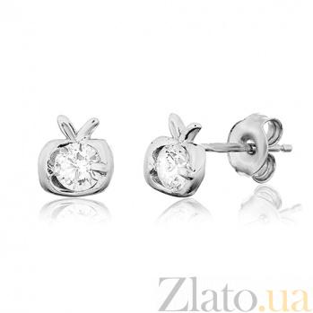 Сережки из серебра с цирконием Спелые фрукты SLX--С2Ф/4010А