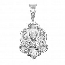 Серебряная ладанка Молитва святому Николаю