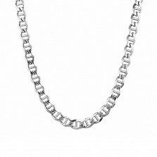 Серебряная цепь Литания в плетении барли (панцирном с перемычками) и алмазной гранью