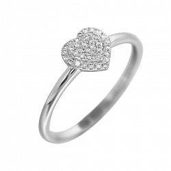Кольцо из белого золота с бриллиантами 000080921