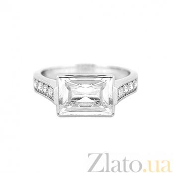 Золотое кольцо с топазом и бриллиантами Рандеву 000029538