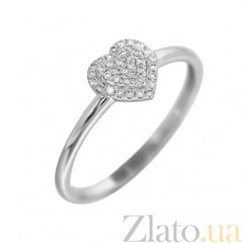 Кольцо из белого золота Романс с бриллиантами 000080921