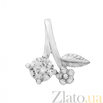 Серебряный подвес Лунный цветок 33002