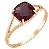 Золотое кольцо Кушон с наногранатом