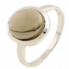 Серебряное кольцо Пенелопа с раухтопазом