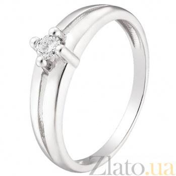 Кольцо из белого золота с бриллиантом Глэдис TRF--1221576н