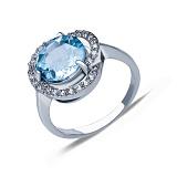Серебряное кольцо с топазом Лаурина