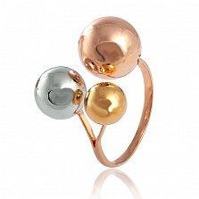 Серебряное кольцо Шарона с позолотой