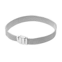 Серебряный широкий браслет для плоских шармов, 7мм 000121324
