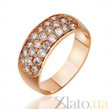 Золотое кольцо с цирконием Беззаботность EDM--КД045