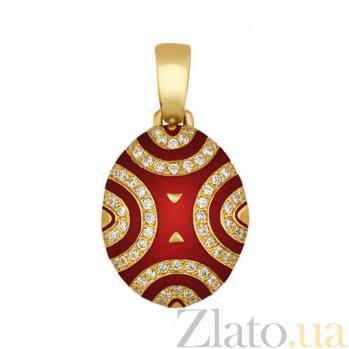 Подвеска Солнце ацтеков из желтого золота VLT--Т3327-1