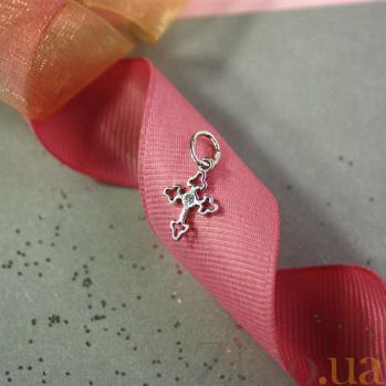 Крестик из белого золота Ажур SVA--3100918102/Фианит/Цирконий