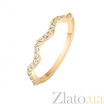 Золотое кольцо в желтом цвете с фианитами Калабрия 000022935