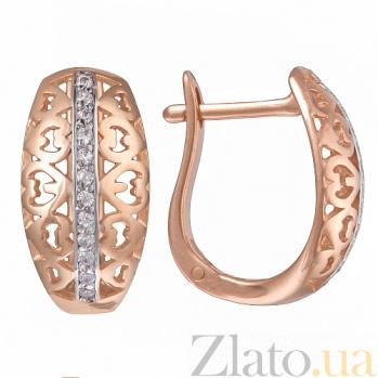 Золотые серьги Джилиан 21526 к