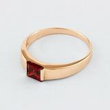 Золотое кольцо с гранатом Аделина