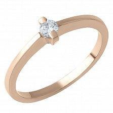 Золотое кольцо Габриэлла с бриллиантом