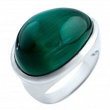 Серебряное кольцо Евгения с кошачьим глазом