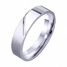 Обручальное кольцо из белого золота Amor Vincit Omnia