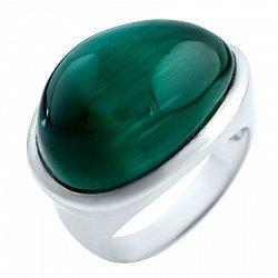 Серебряное кольцо с кошачьим глазом 000076588