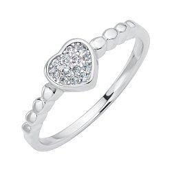 Серебряное кольцо с фианитами 000116342