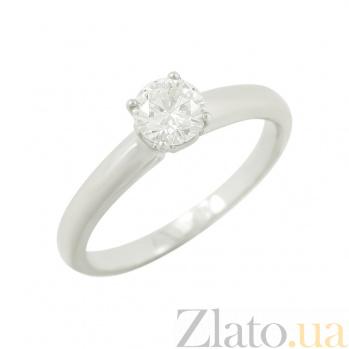 Золотое кольцо с бриллиантом Фредерика 1К071-0022