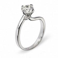 Кольцо из белого золота с бриллиантом Айседора