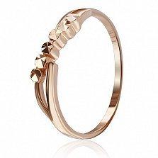 Серебряное кольцо Ева с позолотой