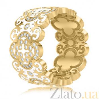Обручальное кольцо из желтого золота Калейдоскоп Любви: В ожидании Чуда 3444/d