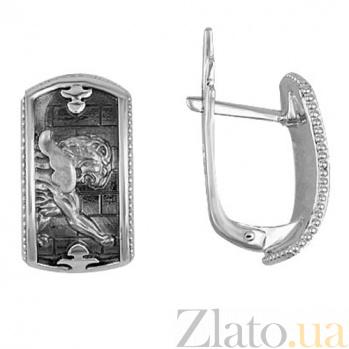 Серьги из белого золота Грифон VLT--Т2554