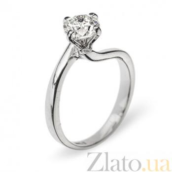 Кольцо из белого золота с бриллиантом Айседора R 0143