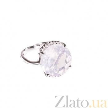 Золотое кольцо с розовым кварцем и бриллиантами Сириль 1К034-1000