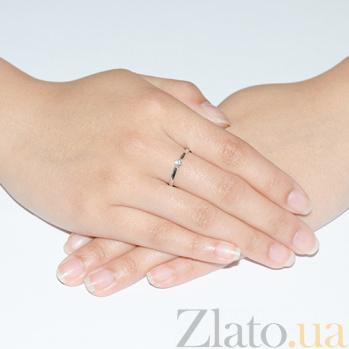 Кольцо с бриллиантом Нежное сияние KBL--К1065/бел/брил