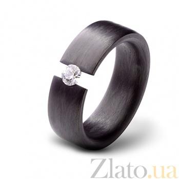 Кольцо из карбона с фианитом Мечта CJ020