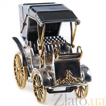 Серебряная визитница Ретро-авто 893