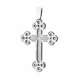 Серебряный крестик Скромность с чернением
